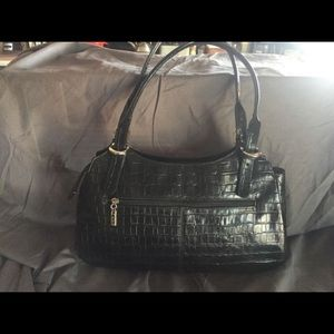 Max New York Croc embossed leather purse